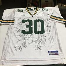 2002 Green Bay Packers Team Signed Authentic On Field Reebok Jersey