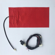 12V Carbon Fiber Heated Motorcycle Seat Heating Heater Pad w/Round Switch