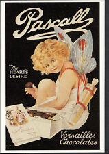 "Advertising Postcard - Pascall Chocolates - Cupid - ""The Hearts Desire""  A7967"