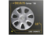 "LOT DE 4 ENJOLIVEURS 15"" POUR OPEL Corsa 2006 5916/5"