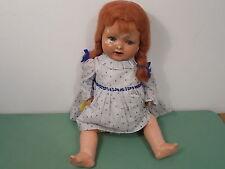 "Vintage Composition  Doll 20"" British Made"