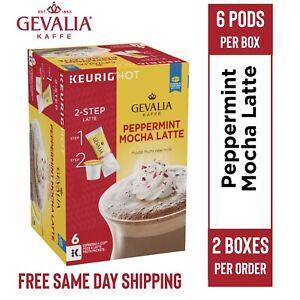 Gevalia Peppermint Mocha Latte K-Cup Coffee Pods • 6 Per Box • 2 Boxes