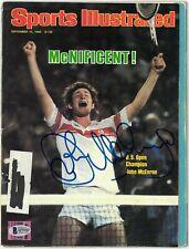 John McEnroe signed Sports Illustrated Full Magazine 9/15/1980- BAS imperfect