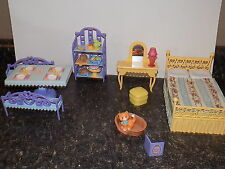 Mrs Goodbee Dollhouse Caring Corners Learning Curve lot of furniture