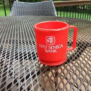 First Seneca Bank Vintage Travel Mug With Base-Oil City Pa