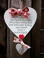Personalised Heart for Grandma/Mum/Mummy-Mothers Day- Handmade-10 cm Shabby Chic
