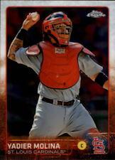 2015 Topps Chrome Baseball #25 Yadier Molina St. Louis Cardinals