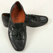 VINTAGE Allen EDMONDS MOCASSINO NERO-taglia 7UK-Made in USA