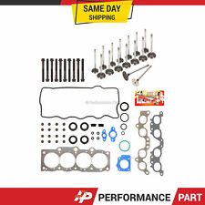 Head Gasket Set Intake Exhaust Valves for 87-91 Toyota Camry Celica 2.0L 3SFE