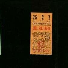 7/29/1958 St Louis Cardinals @ Philadelphia Phillies Baseball Ticket 11 Innings