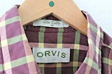 Orvis Button Down Tartan Flannel Shirt, Medium (M)