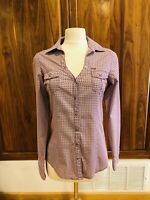 Cruel Girl Sz XS/S Approx Pink Purple Mauve Long Sleeve Western Snap Shirt NWOT