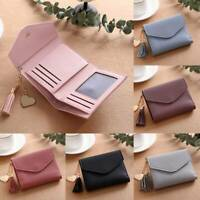 Women's Short Small Wallet Lady Leather Folding Coin Card Holder Money Purse 1PC