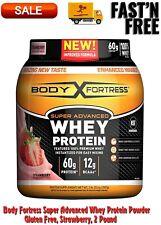 Super Advanced Whey Protein Powder, Gluten Free, Strawberry, 2 Pound, Supplement