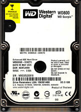 WD WD800UE-00HCT0 dcm: HCNTJHNH s/n: WXE3...  80GB IDE 2816