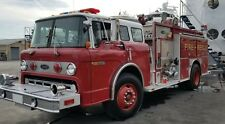 1990 Ford 8000 E-One 1000 Gallon Tank Pumper Fire Truck