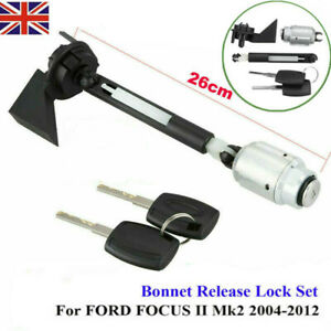 BONNET RELEASE CATCH LOCK WITH KEYS FOR FORD FOCUS C MAX MK2 2004 12 KUGA