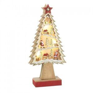 Heaven Sends Wooden Light up Christmas Tree Scene - Lovely Christmas Gift