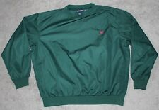 Polo Golf Pullover Windbreaker Green Men X-Large Xl Polyester Clubs Shield Crest