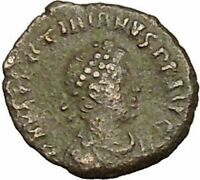 Valentinian II 378AD Authentic Ancient Roman Coin Wreath of success i40290