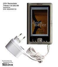 BIANCA Alimentatore per Trekstor 5 M 230v CARICABATTERIE F Trekstor e-book 5 (M) BIANCO