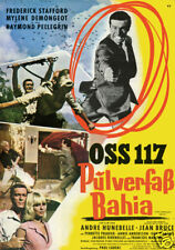 Furie a Bahia pour OSS 117 vintage movie poster