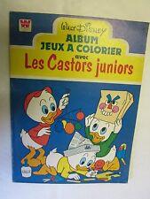 Walt Disney Album Jeux à colorier avec les Castors Juniors /Withman 1978