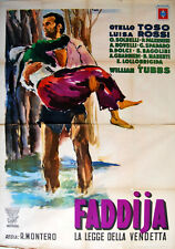 Otello Toso FADDIJA LA LEGGE DELLA VENDETTA manifesto 4F original 1949 art Brini