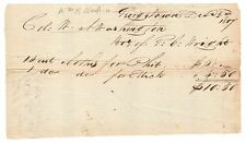 William A. Washington, Cowpens Hero - Document Signed - Buys Clothing for Slaves