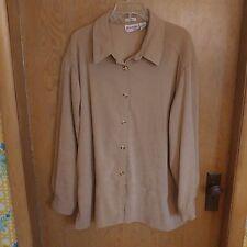 dc2ef2d3c7d Joanna Plus Womens Shirt Top 3X Stretch Long Sleeve Button Down Side Slits  Nice