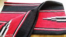 Western Horse Riding Cotton Drill Saddle Blanket Rug Wall Hanging Dog Mat RED