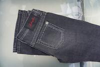 BLUE FIRE Damen Stretch Jeans Bootcut Hose Schlag Flared W28 L34 Grau NEU AD29