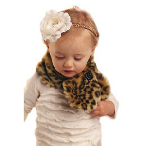 Mud Pie MH5 Christmas Toddler Baby Girl Leopard Tunnel Scarfette Scarf 362011