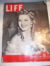 Hollywood Party; Life Magazine - Feb 17,1941