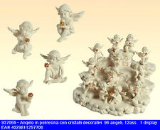 Bomboniera angelo bianco in resina da cm5 12 soggetti