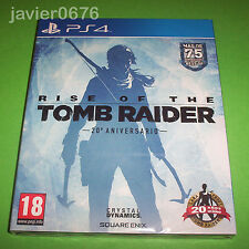 RISE OF THE TOMB RAIDER NUEVO Y PRECINTADO PAL ESPAÑA PLAYSTATION 4