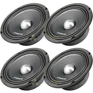 "PRV 6.5"" Mid Range Bullet Speakers Shallow 1000W Max 4 Ohm 6MR250B-4 Slim 4 Pack"