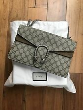 ❈Gucci Dionysus Coated-Canvas & Suede Shoulder Bag (small) - Includes