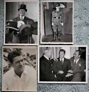 4 Different Original Vintage Boxing Photos: Gene Tunney