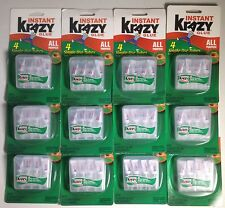 192 Tubes Instant Krazy Glue 4 Single-use Tubes ALL PURPOSE Lot Of 48 Packs
