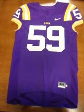 Purple Nike Team Issued LSU Tigers Football Jersey #59 Size 44 Large Sewn