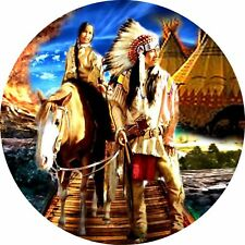 4x4 Spare Wheel Cover 4 x 4 Camper Graphic Vinyl Sticker Indians IN-5