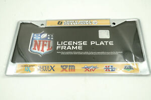 PITTSBURGH STEELERS 6 TIME Super Bowl Champions Chrome Auto License Plate Frame