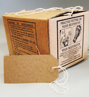 1940s/WW2 Blitz Wartime Memorabilia Air Raid-GAS MASK BOX includes luggage label