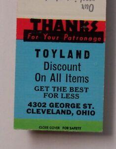 1950s Toyland George St. Cleveland OH Matchbook Ohio