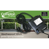 12V AC 105W Weatherproof Garden Light Stepdown Transformer IP54