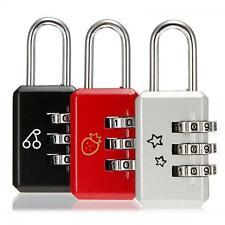 Luggage Padlock Metal 3 Digit Password Dial Combination Lock