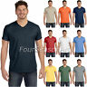 Hanes Mens 100% Ringspun Cotton nano-T® V-Neck T-Shirt tag free tee S-3XL 498V
