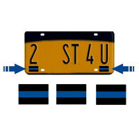 8x Thin Blue Line Mini Stickers Car Decal License Plate Decoration Accessaries