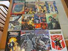 Transformers Books and Comics - Hard and Soft Cover - quantity 12